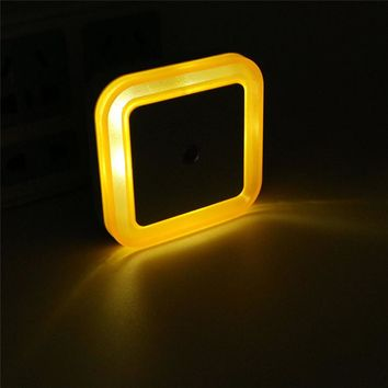 Novelty Light Sensor LED Night Light Baby Bedside Lamp Night Lamp luminarias Sleep Light For Kids Bedroom Stair EU US Plug