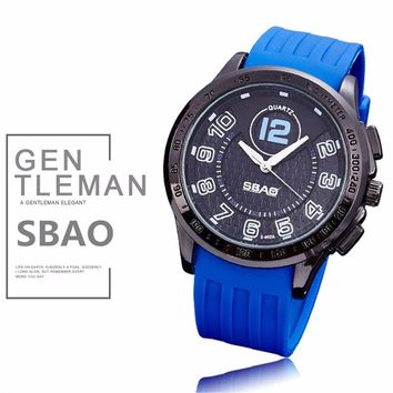 SBAO Electronic Watches Stopwatch Alarm Colorful Students Wrist Watch Men Clock Minimalist Connotation Gift
