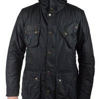 BARBOURFOG PARKA WAXED JACKET - BLACK