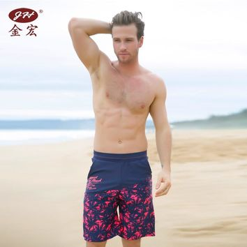 Men's beach shorts personality printing 2016 summer thin section breathable comfort men's linen shorts large size