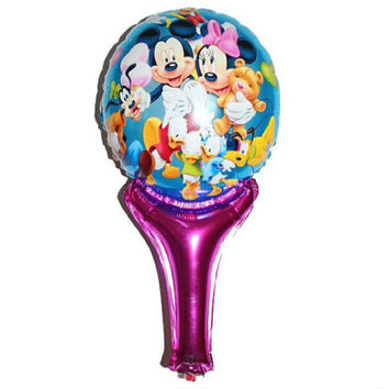 New Minnie Mickey balloons inflatable air toys helium balloons for baby kid toy stick clapper party supplies baby boy shower