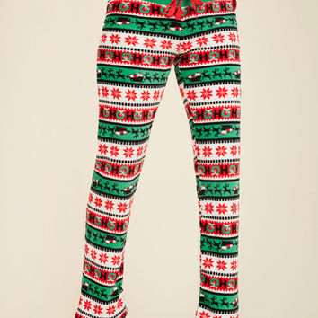 Plush and Pull Lounge Pants in Holiday | Mod Retro Vintage Pants | ModCloth.com