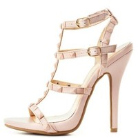 Studded T-Strap Dress Sandals by Charlotte Russe