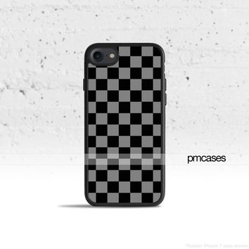Checkerboard Gray Phone Case Cover for Apple iPhone iPod Samsung Galaxy S & Note