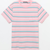 OBEY Belford Striped Box Pocket T-Shirt at PacSun.com