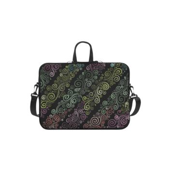 Personalized Laptop Handbag Psychedelic Pastel Macbook Air Shoulder Bag 11 Inch