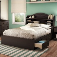 South Shore Summer Breeze Collection Full 54-Inch Mates Bed, Chocolate