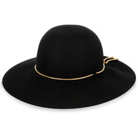 Lanvin - Snake chain-trimmed rabbit-felt hat