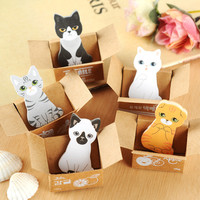 3Pcs/lot 2016 kawaii funny dogs cats stickers home decor cute table Desktop Decoration Decorative post it note paper