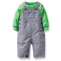 Little Mate 2-Piece Striped Overall Set