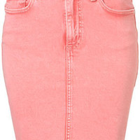 MOTO Acid Wash Pencil Skirt - New In This Week - New In - Topshop