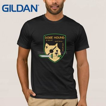 Spring Autumn Doge Tee Shirt For Men Doge Hound Metal Gear Solid Mens T-Shirt New Fashion Cotton Simple T Shirt For Mens Outfit