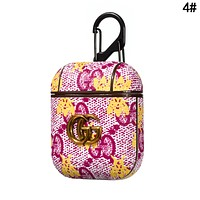 GUCCI Newest Hot Sale iPhone Airpods Headphone Case Wireless Bluetooth Headphone Protector Case(No Headphones) 4#