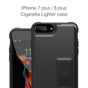 iPhone 8 Plus Case, iPhone 7 Plus Case, ZVE Multifunctional Lighter Case Durable Shockproof Protective Cover with Bottle Opener for iPhone 8 PLUS (2017) / iPhone 7 Plus (2016) - Black