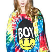 BOY London United Boy Acid Beanie Top Tie Dye