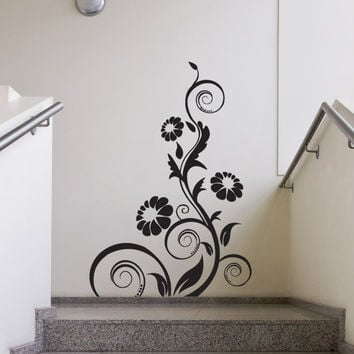 Vinyl Wall Decal Sticker Flower Vine Curls #1119