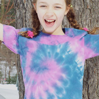 Hippie Kids Clothes- Tie Dye Swirl Kids- Tiedye Tshirt Kids- Tie Dye Tshirt Kids- Cool Kids Tshirt- Boho Kids Shirt- Child Size S (6-8)