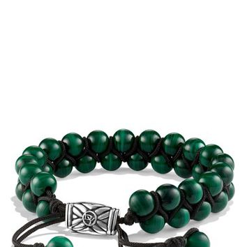 Men's David Yurman 'Spiritual Beads' Two-Row Bracelet with Malachite