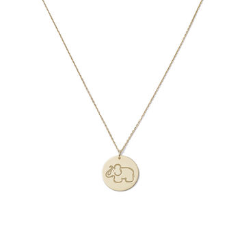 Medals Yellow-Gold Pendant With 50cm Chain