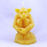 Gargoyle Beeswax Candle Halloween Candle Halloween Gargoyle Fall Decoration Halloween Decoraton