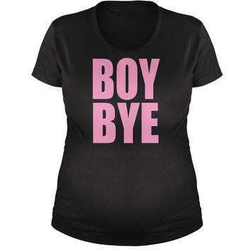 Boy Bye Pink Lemonade  Maternity Pregnancy Scoop Neck T-Shirt