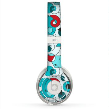The Red & Blue Abstract Shapes Skin for the Beats by Dre Solo 2 Headphones