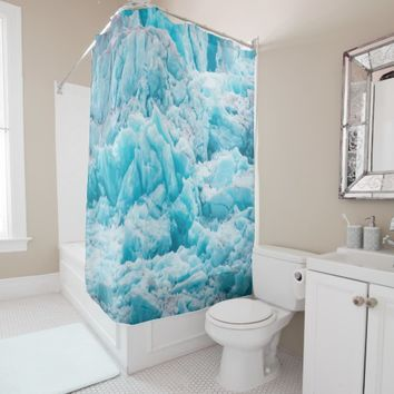 Alaska Glacier Ice Wild Natur Shower Curtain