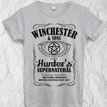 Winchester and sons,supernatural t shirt   ,Fashion clothing,T-shirt unisex S M L,