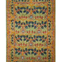 Darya Rugs Arts and Crafts Oriental Handmade Rug - Green