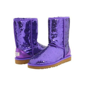 DCCKIN2 Ugg Boots Black Friday Classic Short Sparkles 3161 Passion Purple For Women 114 45