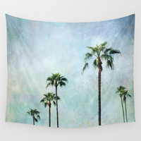 Palm trees Wall Tapestry by Sylvia Cook Photography