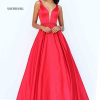Satin Plus A Line Sherri Hill Dress 50496