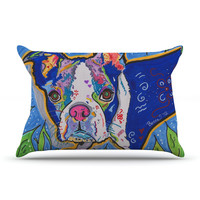 "Rebecca Fischer ""Addy Mae"" Pug Terrier Pillow Case"