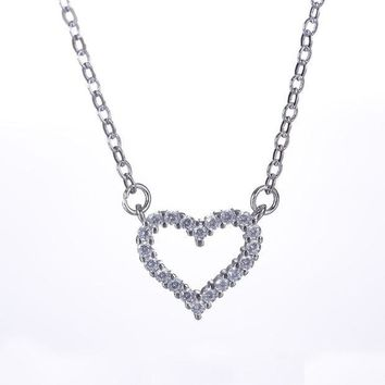 ca DCCKTM4 Jewelry Shiny Stylish Gift New Arrival 925 Silver Simple Design Design Diamonds Box Necklace [8026162567]