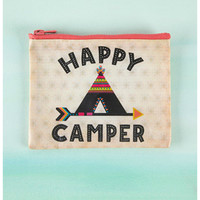 Natural Life Recycled Zipper Bag - Happy Camper