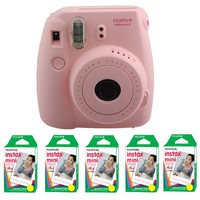 Fujifilm FU64-MIN8PK100 INSTAX MINI 8 Camera and Film Kit for 100 Exposures (Pink)