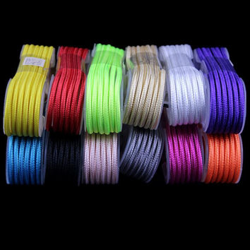 1.5M Stylish Nylon Braided Fabric 8pin Usb data sync Charger Cable for iphone 5 5s 6 6s 6 plus for ipad mini