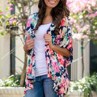 Worth the Wait Floral Kimono Shop Simply Me Boutique Shop SMB – Simply Me Boutique