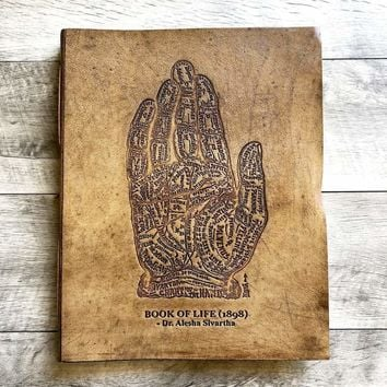 The Chart Of Hand Oversized Large Handmade Leather Journal