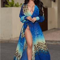 Blue Laguna Beach Outfit Maxi Dress