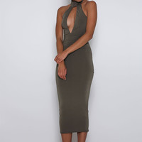 Unique Dress Olive
