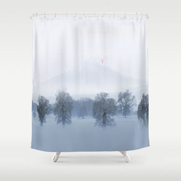 Dragons alone Shower Curtain by Tony Vazquez