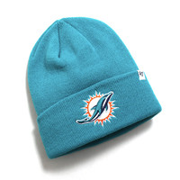 Miami Dolphins Raised Cuff Knit Beanie Neptune