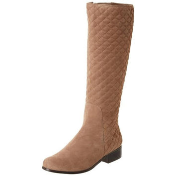 VANELi Womens Radio Suede Quilted Riding Boots