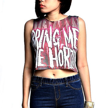 Bring me the horizon Girl Crop Top Tank Shirt Cropped Tops S M L