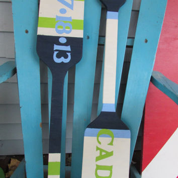 Small oar set. Personalized Oars. Reclaimed Wood Nautical Decor. Beach Decor. Lake Decor. Custom Paddles. Made to Order