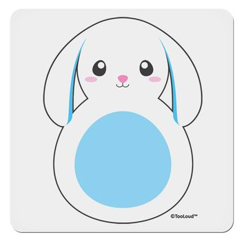 "Cute Bunny with Floppy Ears - Blue 4x4"" Square Sticker by TooLoud"