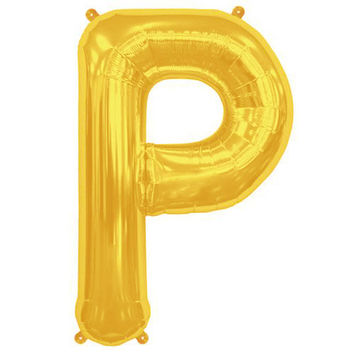 Metallic Gold Foil Letter P Balloon