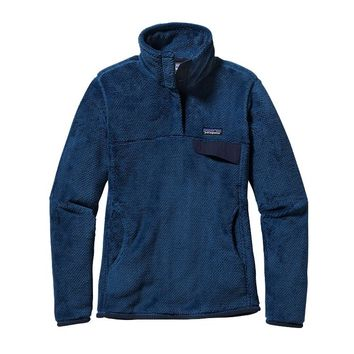Patagonia Women's Re-Tool Snap-T® Fleece Pullover | Glass Blue - Channel Blue X-Dye