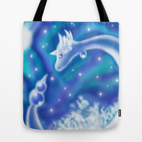 Pokemon - Dragonair Tote Bag by Susaleena